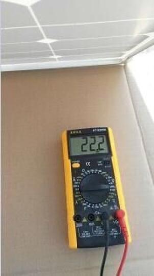 esg 单晶50W太阳能电池板  50瓦光伏发电板  充12V蓄电池  家用太阳能发电组件 晒单图