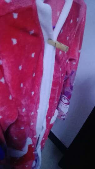 慕莉娜睡衣女秋冬保暖珊瑚绒加厚女家居服女睡袍吊带睡裙两件套浴袍 小熊纹红色 均码(适合身高160-170 体重90-125) 晒单图