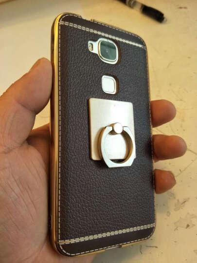 钻盾 华为麦芒4手机壳透明电镀TPU硅胶保护套 适用于华为麦芒4/D199/g7plus 电镀皮套 咖啡色+皮纹猫指环 晒单图