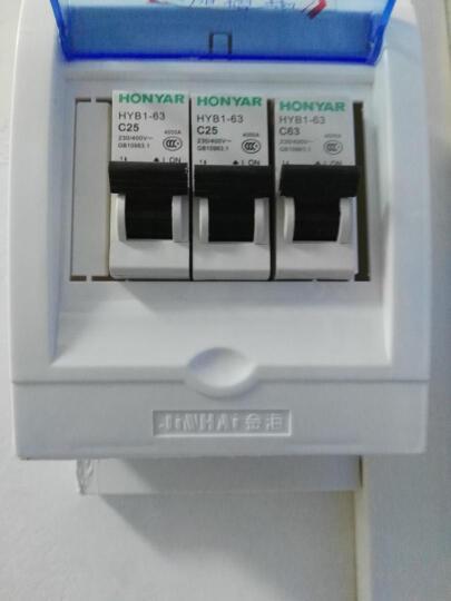 鸿雁(HONYAR)单极家用空气开关1P63A家用断路器 短路保护器跳闸开关 家用开关总闸 晒单图