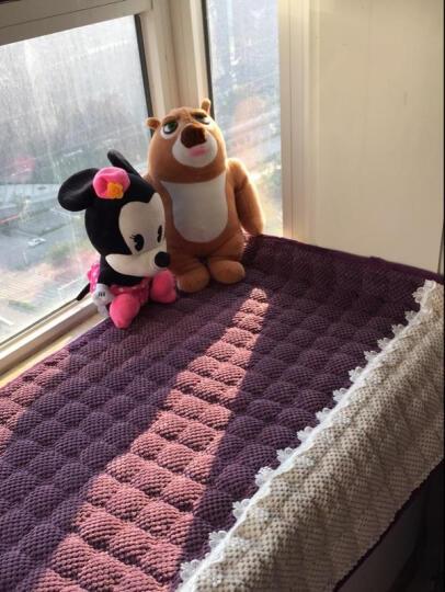 福艺居 超柔毛绒飘窗垫加厚卧室窗台垫简约现代纯色榻榻米毯子坐垫 可定制 灯芯绒-深紫色 定制请联系在线客服 晒单图