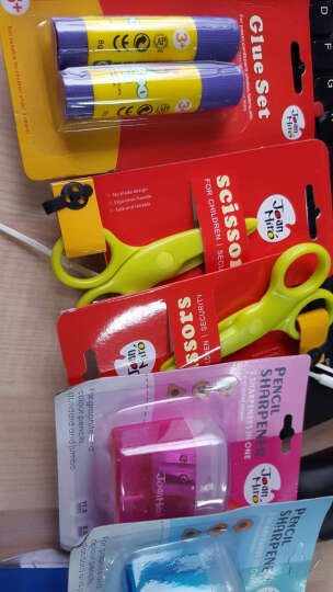美乐(JoanMiro)幼儿手工工具套装 剪刀/胶棒/卷笔刀 晒单图