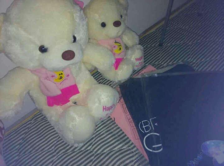笑萌 泰迪熊抱枕公仔娃娃毛绒玩具抖音抱抱熊情人节生日礼物送女生 浅棕色围巾熊 1.8米 晒单图