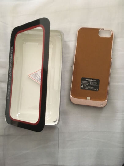【秒杀中】索致背夹电池苹果充电宝iphone6/6s/7/8plus手机无线移动电源专用壳个性超薄冲 6/6S/7/8  (4.7英寸 玫瑰金) 大容量 晒单图