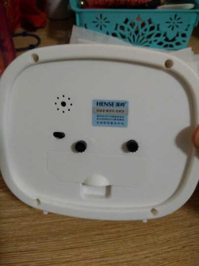 汉时钟表 电子闹钟 学生床头钟卡通桌钟创意儿童小台钟静音懒人闹表石英钟HA07 白色4寸 晒单图