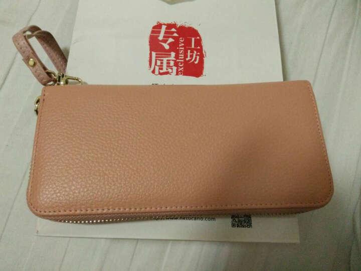 啄木鸟(TUCANO)女式包包 女士钱包长款牛皮 粉色手拿包手抓包大容量 韩版女包 2461黑色 晒单图
