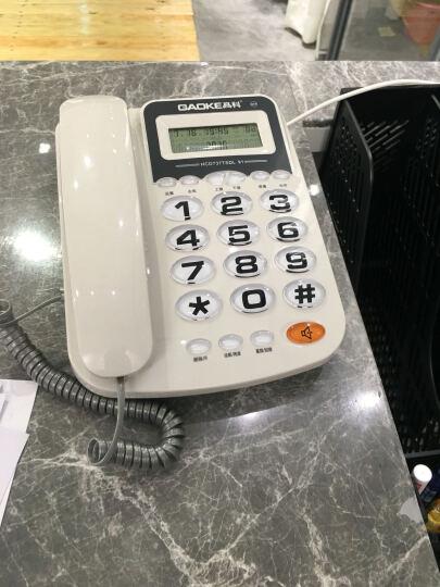 高科627 电话机座机有绳电话机来电显示办公家用固定大字固定座机 白色 晒单图
