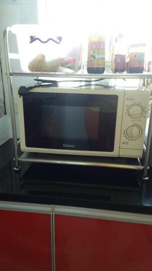 益柏朗 304不锈钢 厨房置物架落地 微波炉架子 微波炉置物架 层架 调料 储物 烤箱架 201大号双板+8钩 晒单图