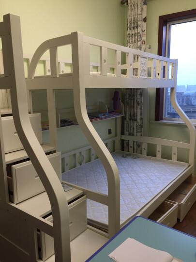 赛罗纳 德国进口榉木子母床  实木组合上下铺 儿童双层床  白色漆高低床 带梯柜爬梯挂梯 双层床带梯柜+书架+拖床 1500*1900 晒单图