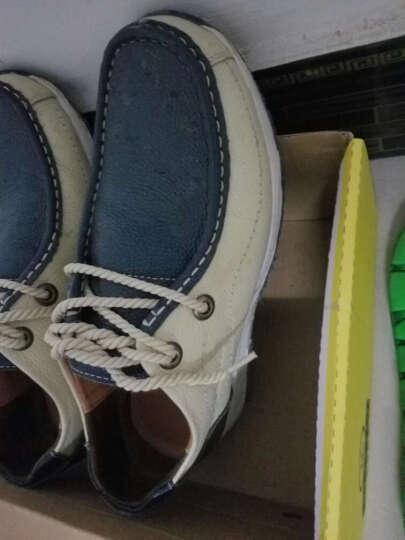 西马驼增高鞋男鞋真皮休闲鞋商务隐形内增高6cm系带方头皮鞋子男英伦时尚低帮鞋 米白 41 晒单图