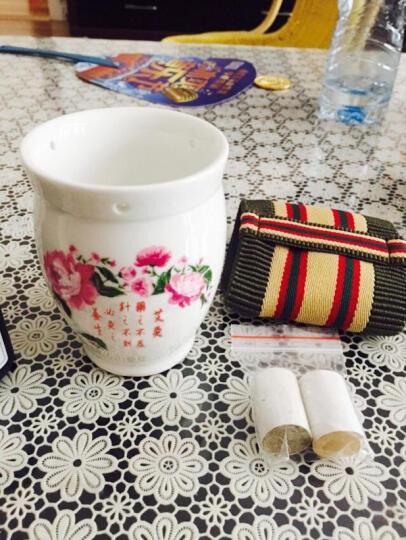 王太医 艾灸马甲 陶瓷艾灸罐艾灸杯随身灸便携式足灸盒 套餐一 陶瓷罐颜色随机+隔热套+艾柱54粒 晒单图