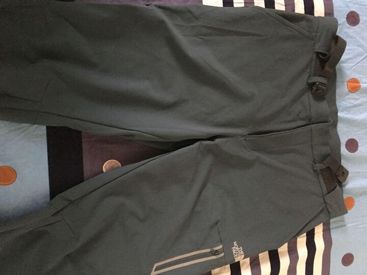 北面(The North Face) 男款户外运动裤舒适透气带腰带速干长裤 CNK8 JK3/黑色 38 晒单图