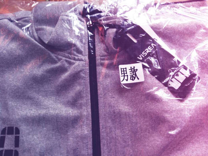 VISREA 运动套装 秋冬男女款情侣运动卫衣套装 休闲户外运动服 加绒款-灰色 -男款M 晒单图
