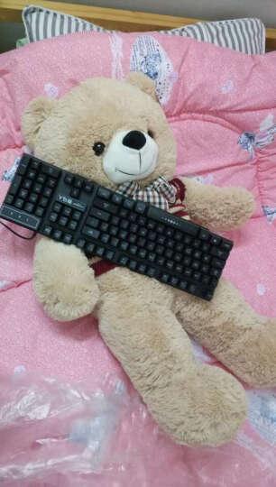 毛绒玩具熊 泰迪熊 可爱抱抱熊公仔狗熊布娃娃生日礼物女抱心熊大号熊猫公仔送女友 一生有你会说日快乐歌 60厘米 晒单图