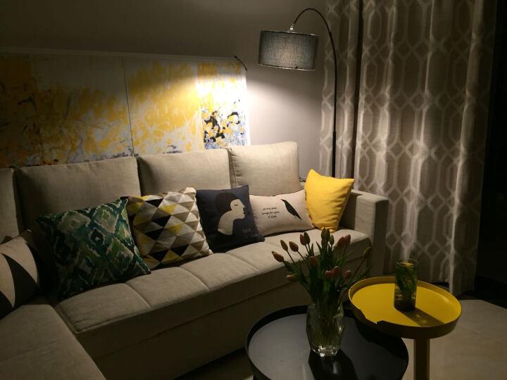 居家护眼落地灯客厅钓鱼灯欧式现代卧室书房台灯创意布艺地灯 不带灯泡 黑色 晒单图