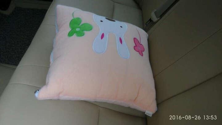 dmsky生日礼物  卡通空调被 靠垫抱枕被 大号 两用多功能午休被抱枕抱枕被子两用 幸运兔 抱枕被普通包装 晒单图