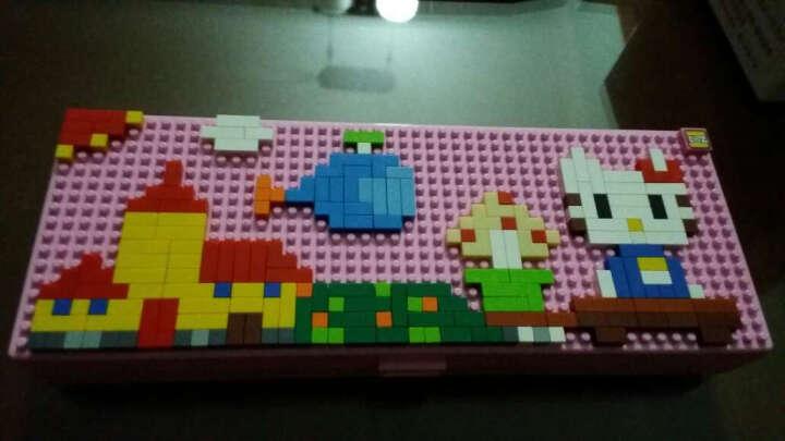 德国LOZ俐智微型钻石小颗粒积木塑料拼插组装益智玩具3D立体卡通人物小学生文具积木铅笔盒 (小黄人) 晒单图