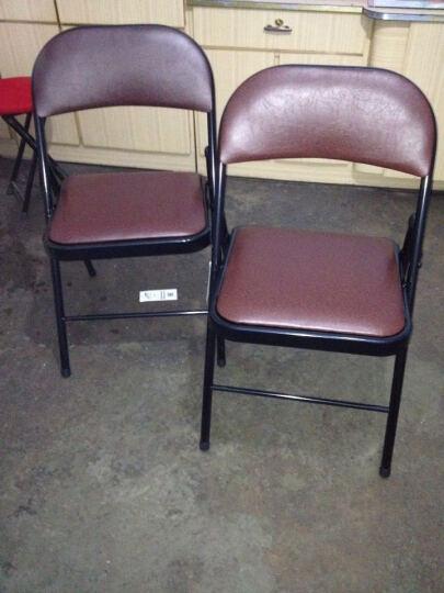 艾德卡办公椅简约电脑椅子便携折叠椅子 家用培训会议座椅 桥牌椅 咖啡色 晒单图