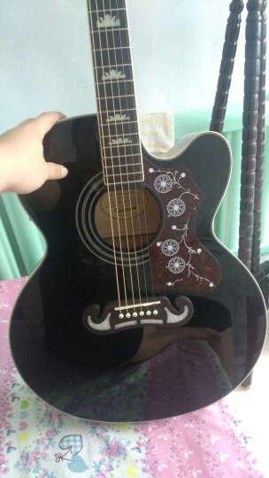 依霹风 Epiphone五月天怪兽签名款EJ200SCE单板电箱民谣吉他Jumbo EJ200SCE  黑色 晒单图