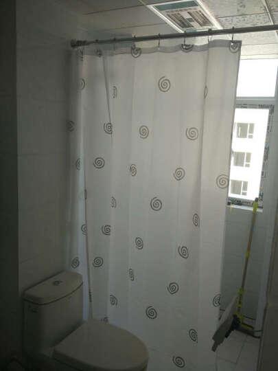 宏明浴帘杆不锈钢伸缩杆免打孔可做毛巾杆窗帘杆晾衣杆 光亮头挂杆可做窗帘杆 160-300cm限160-280内使用 晒单图