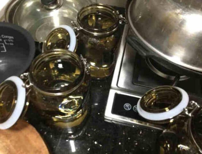 喜碧(scybe) 彩色玻璃瓶密封罐储物罐奶粉罐酵素罐蜂蜜瓶酒罐5件套 蓝色5件套 晒单图