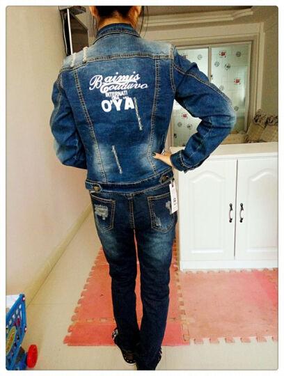 灏嫚牛仔套装女两件裤外套 来自星星的你 XL 晒单图