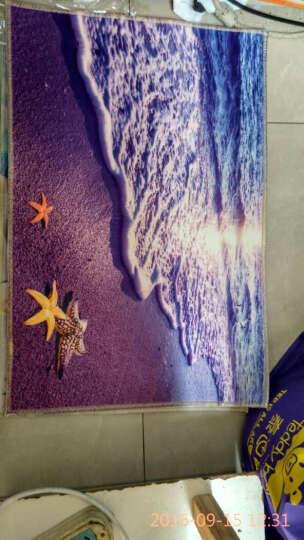 至尚家居 电脑彩印印花地垫 儿童宝宝卧室房间地垫 儿童房床边毯卧室浴室卫生间门垫衣帽间地垫 海滩 约40x60厘米 晒单图