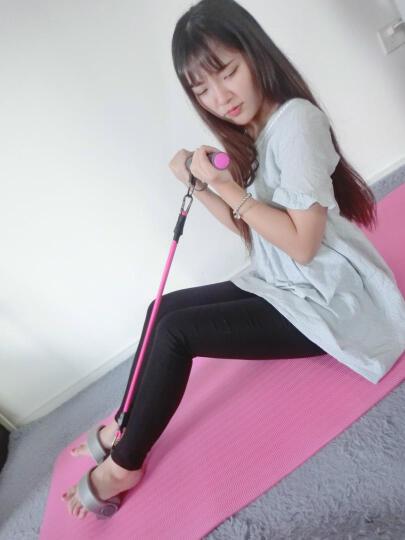 米客 拉力器仰卧起坐器脚蹬拉力器健腹器收腹机多功能非弹簧男士女士锻炼运动健身器材家用 升级款 黑绿色 晒单图