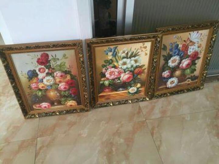 美式纯手绘油画酒店客厅餐厅玄关挂画装饰