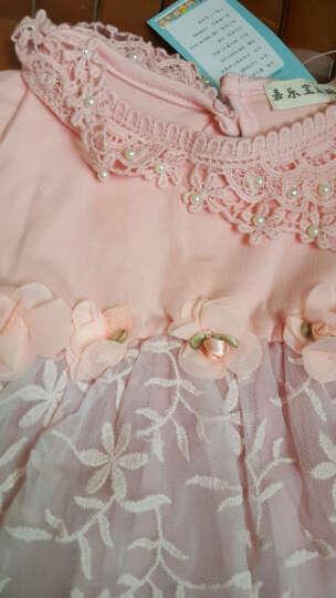 嘉乐宝杰斯卡 1-2-3岁女宝宝春秋装套装 新款女童连衣裙 长裤2件套 婴儿服装套装 西瓜红 10码建议身高80-90cm 晒单图