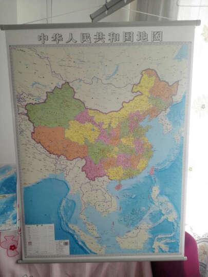 2019全新 中国地图挂图竖版 1.2*0.9米 双面覆膜 南海一体 晒单图