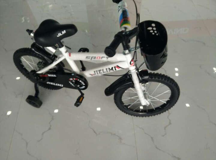杰里米 男女童车儿童自行车14寸16寸12寸带辅轮 3/6/8岁小孩山地车宝宝小学生单车 新款16寸白黄色 晒单图