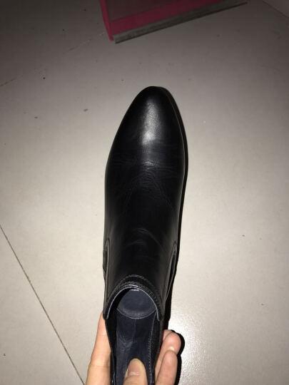 Joy&Peace真美诗冬季专柜同款牛皮舒适女短靴ZM821DD5 黑色 34 晒单图