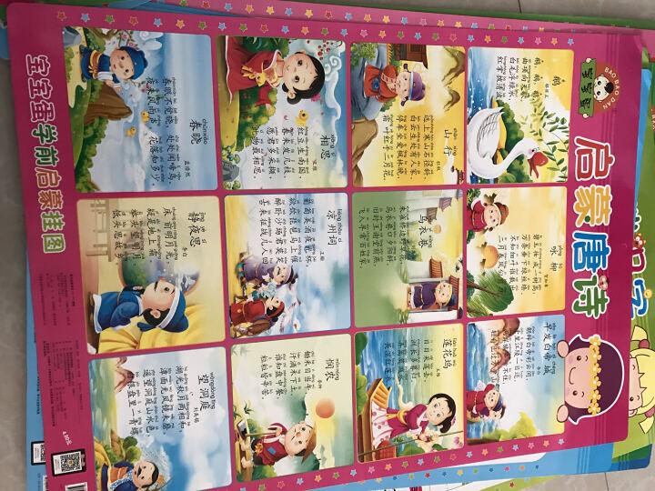 快乐宝宝认知挂图(套装全8册)(赠送6至8个益智玩具) 晒单图
