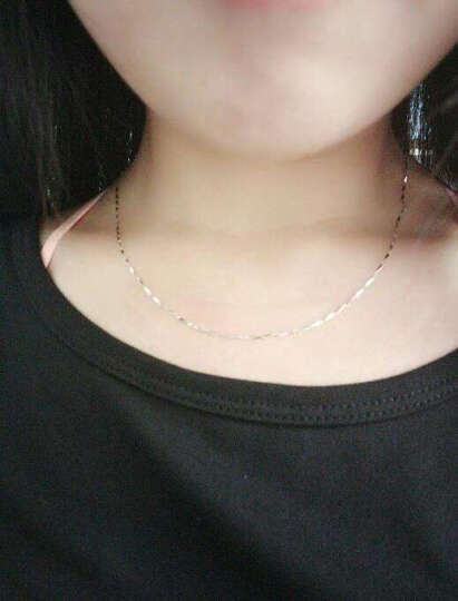 百年福牌 铂金项链女 PT999瓜子链 白金锁骨项链女款 4克42-44厘米 晒单图