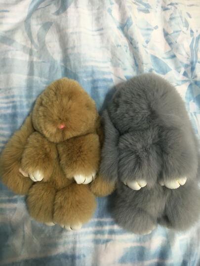 靖昕 兔子毛绒玩具 兔子公仔皮草饰品包包挂饰 汽车钥匙扣布娃娃 橘色小兔 女神礼盒包装 晒单图