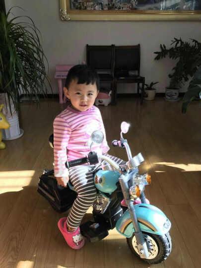 包邮哈雷款型儿童电动摩托车超炫新款三轮玩具车带音乐灯光哈雷摩托车 橙黑色 晒单图