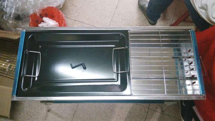 凯洲烧烤架家用户外不锈钢折叠便携式烧烤炉烧烤架子5人以上配件全套烧烤工具 KZ-92烤炉+煎盘+十八件套 晒单图
