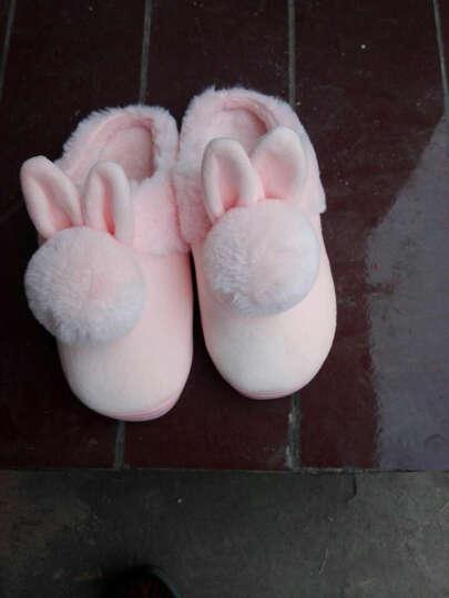 秋冬季棉拖鞋男女情侣全包跟保暖居家居卡通可爱冬天毛毛鞋子包脚 双球半包 粉色 40/41码(合适39/40穿) 晒单图