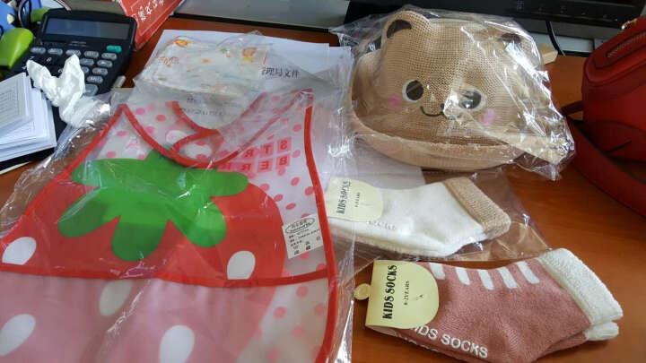春夏儿童草帽秋男女宝宝帽子婴儿帽子韩国韩版遮阳套头帽棉帽 羊毛粉色 晒单图