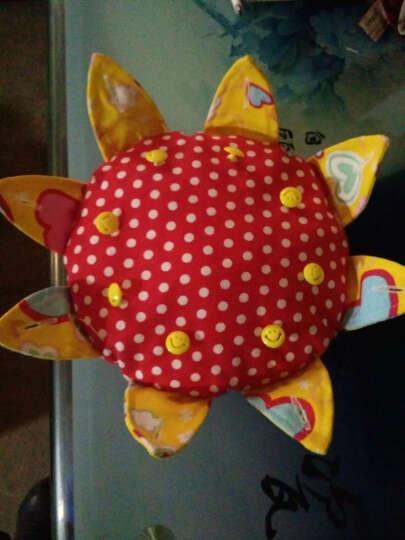 手工带纽扣布艺飞盘 儿童练习扣扣子 幼儿园教学安全软飞碟玩具 红点黄叶 晒单图