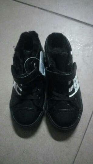 飞耀(FEIYAO) 童鞋儿童运动鞋男童女童棉鞋保暖加绒棉鞋2017冬季新款雪地靴 黑色 25码/内长约16.5CM 晒单图