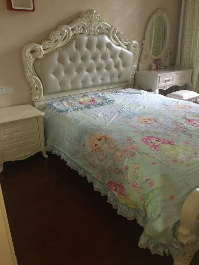 贝黎诗 床 欧式床1.5米双人床婚床 白色皮床 法式公主床 高箱储物床家具 框架床 1.5*2 晒单图