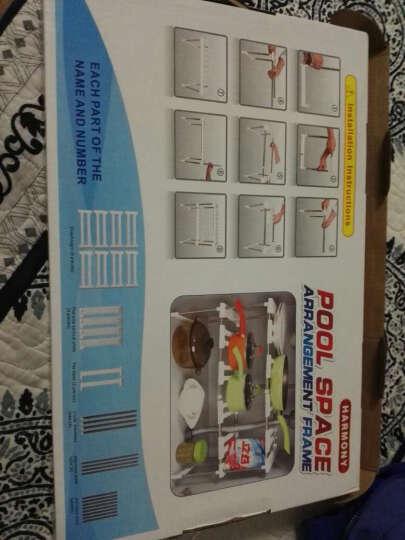 厨房置物架 可伸缩式收纳架储物层架鞋架 橱柜内水槽架子 白色 单个 晒单图