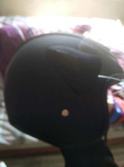 AK男女电动车头盔电瓶车冬季保暖四季通用 银色 选原装茶色防雾镜片 晒单图