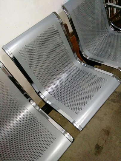普拉格 排椅 机场椅 公共长椅 候车椅 钢制排椅银行等候椅医院候诊椅输液椅 银灰电镀三人位 晒单图