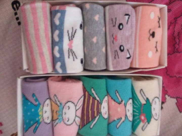 宝娜斯(BONAS)儿童袜子男童女童宝宝棉袜秋冬季保暖袜子5双装  4-6岁  G1603 晒单图