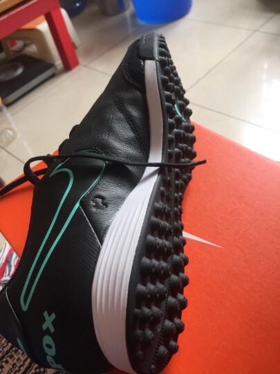 新款 Nike/耐克 TIEMPO 传奇6代TF 男子中端碎钉人草训练足球鞋 819216-003狼灰/黑/翡翠绿/金属银 44.5 晒单图