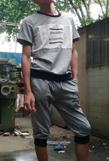 丛林客情侣运动套装 春夏季长袖运动套装 男士开衫套装透气运动服跑步服男 灰色Y7 男女同款XL 晒单图