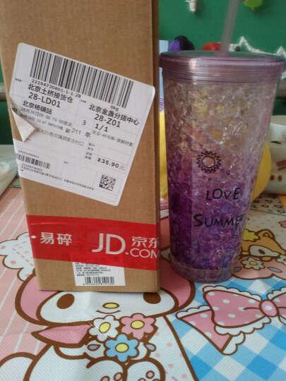 欧橡OAK塑料杯冰杯冰啤酒冰镇果汁饮料杯 创意双层塑料夏日必备制冷杯子紫色550ML OX-3007 晒单图